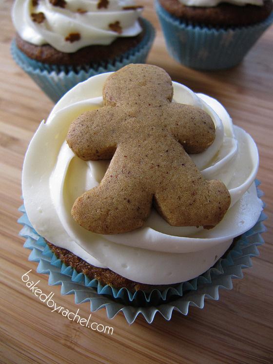 Gingerbread Cupcake Recipe From bakedbyrachel.com