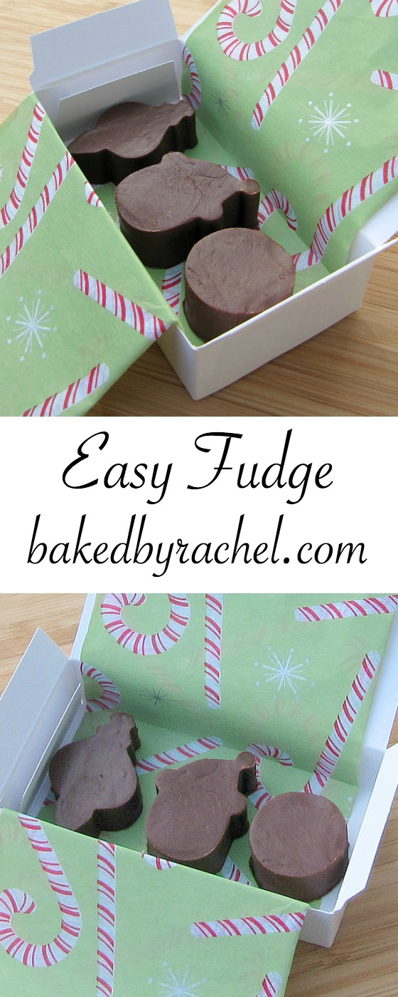 Quick and easy homemade fudge recipe from @bakedbyrachel. A seasonal treat perfect for gifting!
