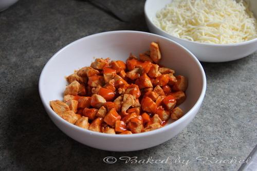 Buffalo chicken calzone recipe