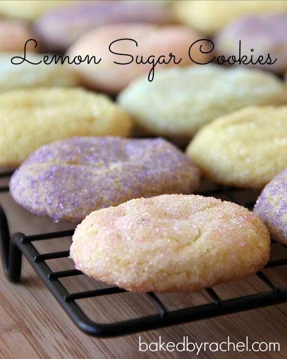 Lemon Sugar Cookie Recipe from bakedbyrachel.com