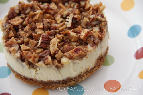 Apple pecan cheesecake - bakedbyrachel.com