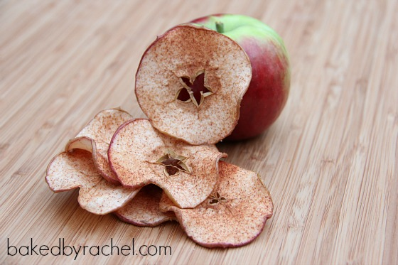 Cinnamon Apple Chips Recipe from bakedbyrachel.com