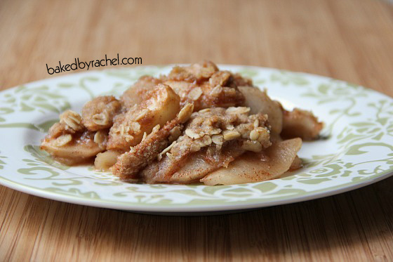 Apple Crisp Recipe by bakedbyrachel.com