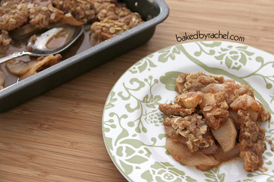 Apple Crisp Recipe by bakedbyrachel.com