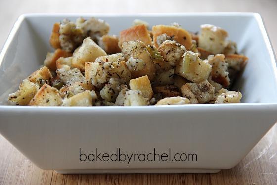 Classic Homemade Bread Stuffing Recipe from bakedbyrachel.com