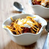 Spicy two bean chili and a slow cooker roundup - bakedbyrachel.com