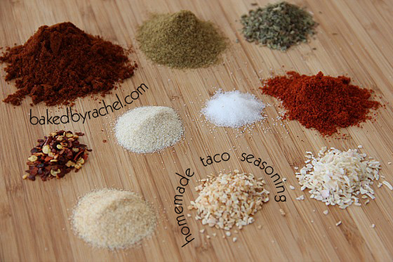 Homemade Taco Seasoning from bakedbyrachel.com