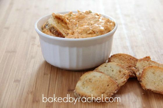 Buffalo Chicken Dip Recipe from bakedbyrachel.com