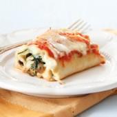 Spinach and Mushroom Lasagna Rolls