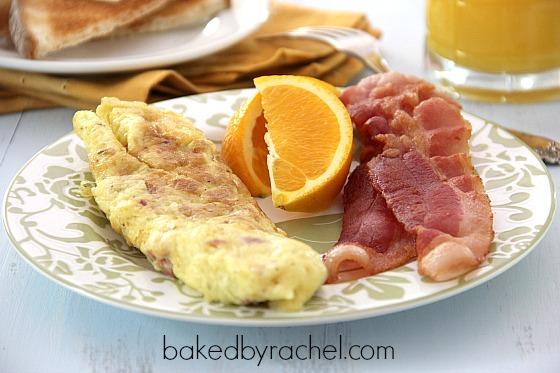 Rolled Omelette Recipe from bakedbyrachel.com
