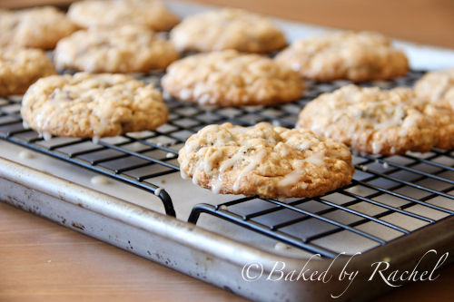 Applesauce Oatmeal Cookies with Maple Glaze from Baked By Rachel ...