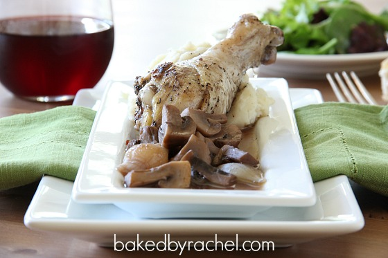 Coq Au Vin (Chicken with Wine) Recipe from bakedbyrachel.com
