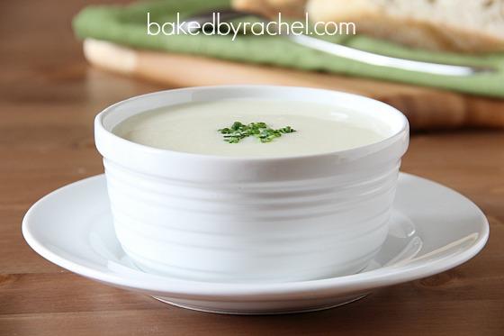 Vichyssoise (Potato and Leek Soup) Recipe from bakedbyrachel.com