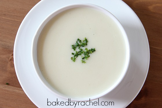 Vichyssoise (Potato and Leek Soup) Recipe from bakedbyrachel.com