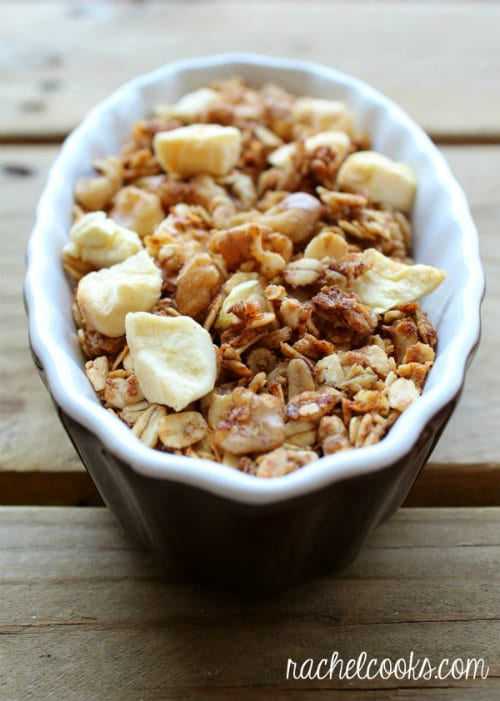 Apple Crisp Granola by Rachel Cooks - bakedbyrachel.com