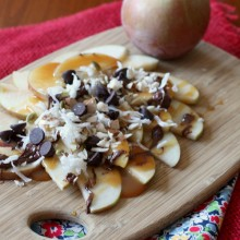 Apple Nachos by Nutmeg Nanny - bakedbyrachel.com