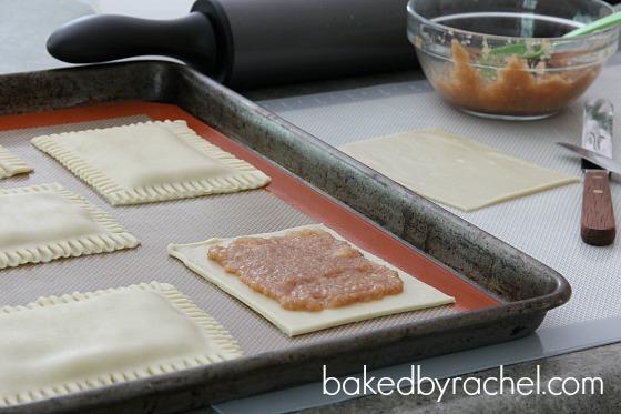 Apple Cinnamon Pop-Tarts with Caramel Icing Recipe from bakedbyrachel.com