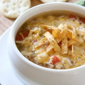 Slow Cooker Chicken Tortilla Soup - bakedbyrachel.com