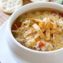 Slow Cooker Chicken Tortilla Soup - bakedbyrachel.com