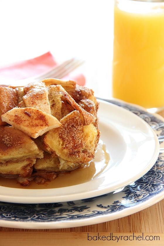 Apple Pie French Toast Casserole Recipe from bakedbyrachel.com