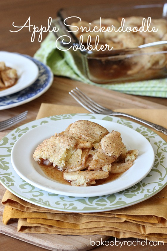Apple Snickerdoodle Cobbler Recipe from bakedbyrachel.com