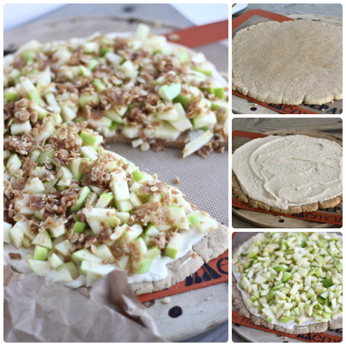Apple Cinnamon Streusel Pizza