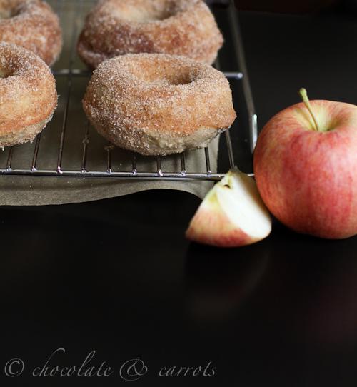 Whole Grain Apple Cinnamon Baked Donuts by Chocolate and Carrots - bakedbyrachel.com