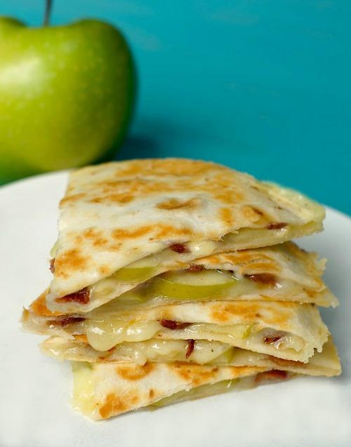 Apple Cheddar And Bacon Quesadillas
