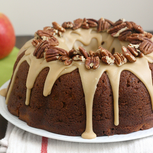 Apple-Cream Cheese Bundt Cake by Tracey's Culinary Adventures on bakedbyrachel.com