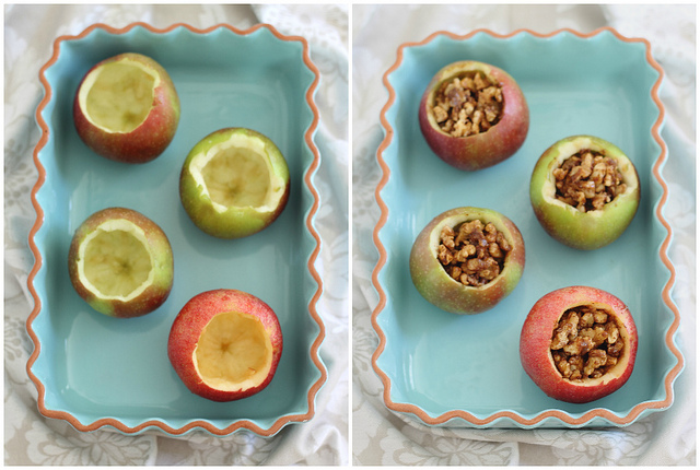 Baklava Stuffed Apples with Vanilla Coconut Cream by Running to the Kitchen - bakedbyrachel.com