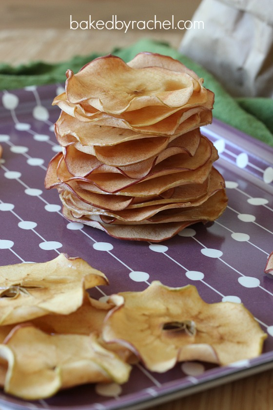 Maple Apple Chips Recipe from bakedbyrachel.com
