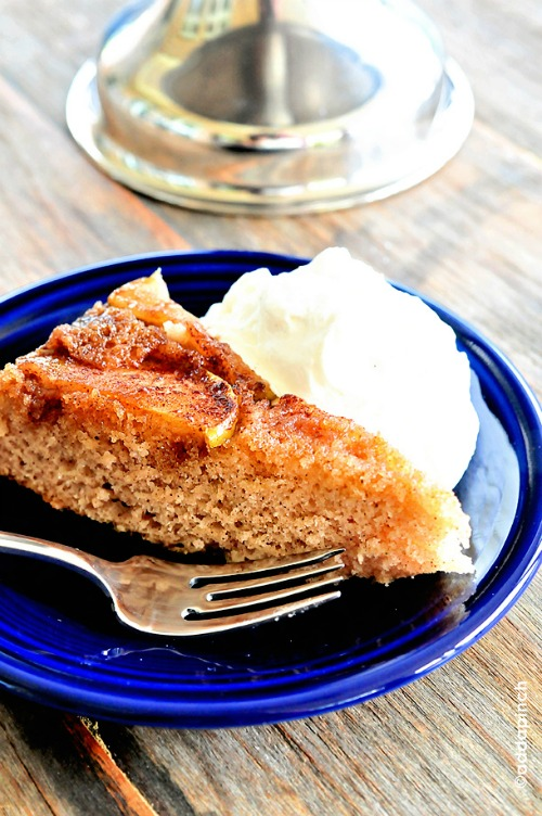 spiced apple upside down cake