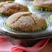 Pumpkin apple muffins with snickerdoodle topping