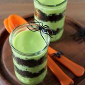 Halloween Goblin Goo Parfaits - bakedbyrachel.com