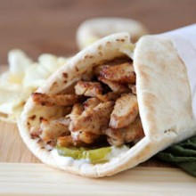 Spicy shawarma chicken wraps