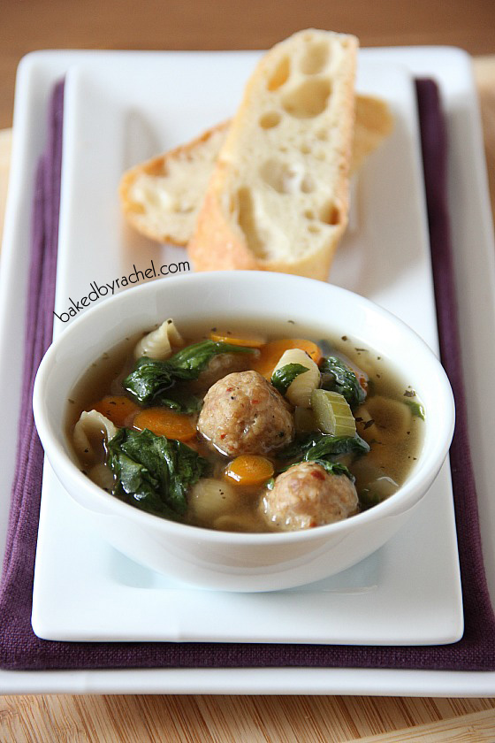 ... and classic soup, packed full of vegetables and spicy mini meatballs