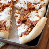 Bacon and barbecue chicken pizza