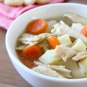 Leftover Turkey and Potato Soup - bakedbyrachel.com