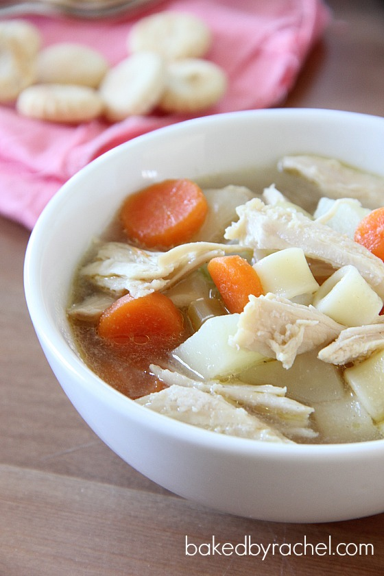 Leftover Turkey and Potato Soup Recipe from bakedbyrachel.com