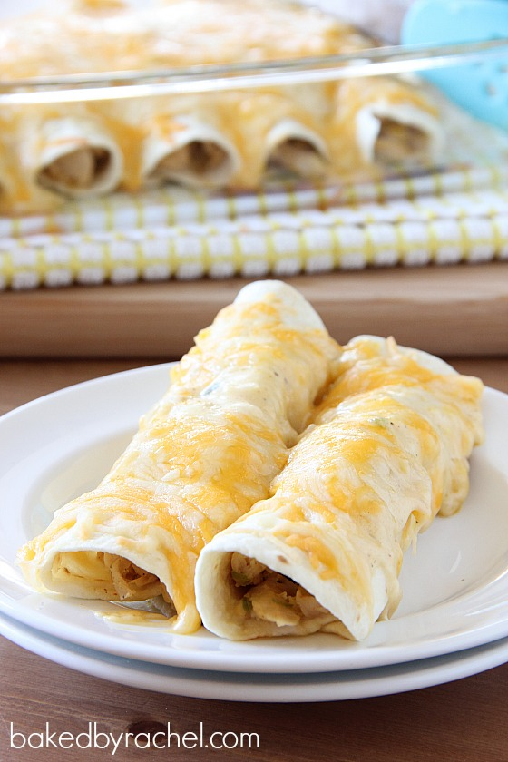 Leftover Turkey Enchilada Recipe from bakedbyrachel.com
