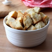 Garlic and Parmesan Croutons