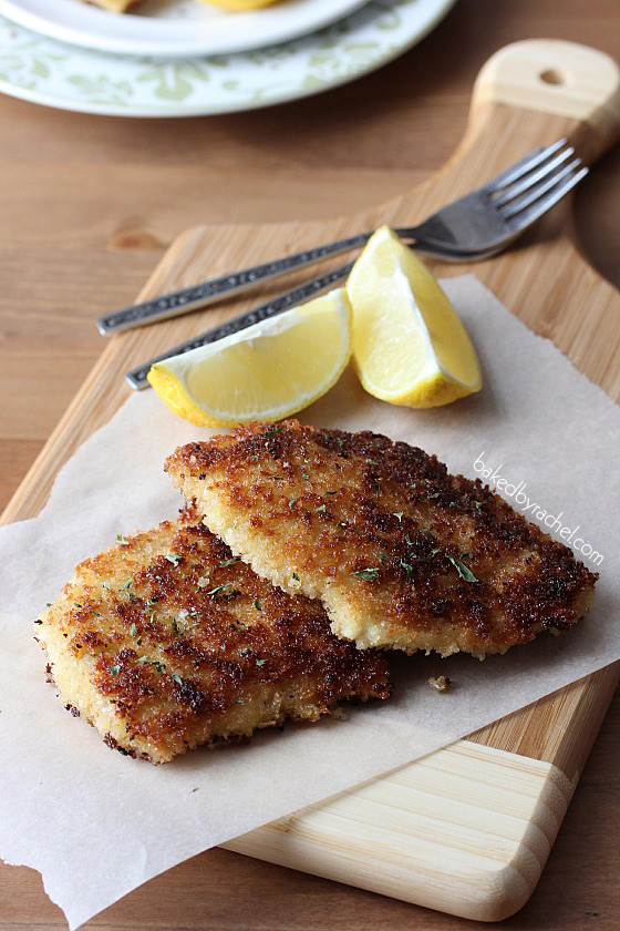 Chicken Schnitzel Recipe from bakedbyrachel.com