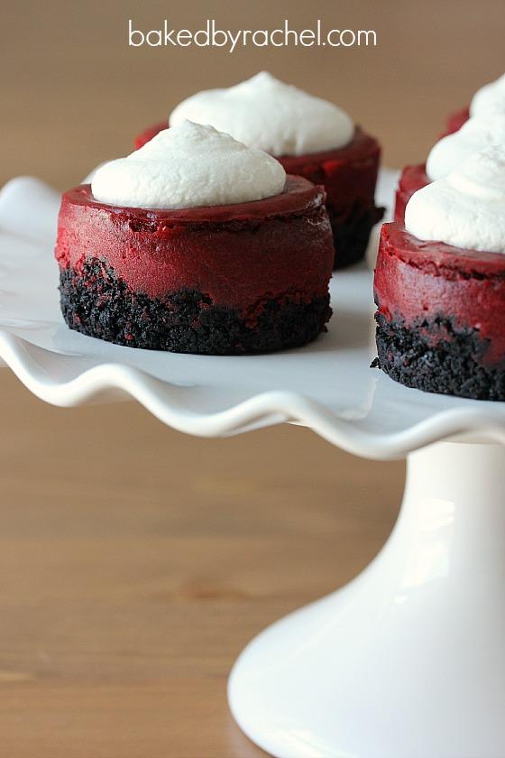 Mini Red Velvet Cheesecakes | Baked by Rachel