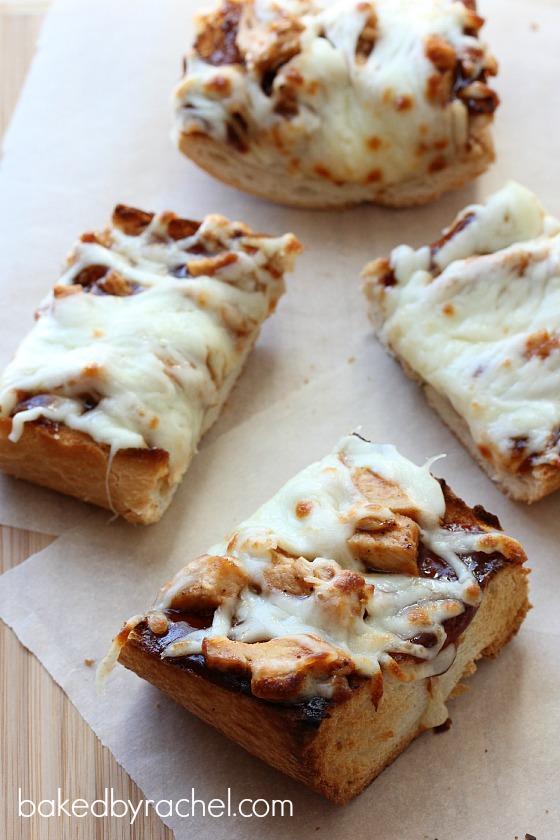 Barbecue Chicken French Bread Pizza Recipe from bakedbyrachel.com