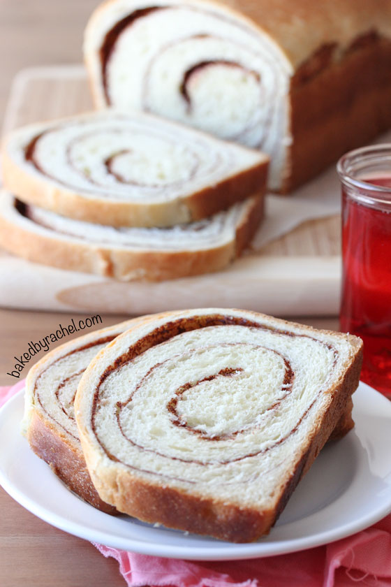 Cinnamon Swirl Bread Recipe from bakedbyrachel.com