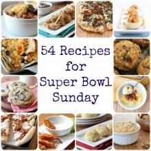 54 recipes for Super Bowl Sunday from bakedbyrachel.com