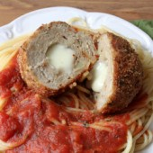 Chicken Parm Meatballs Recipe - bakedbyrachel.com