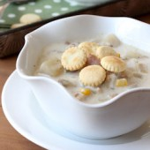 Slow Cooker New England Clam and Corn Chowder