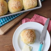 Parmesan and Onion Dinner Rolls Recipe - bakedbyrachel.com