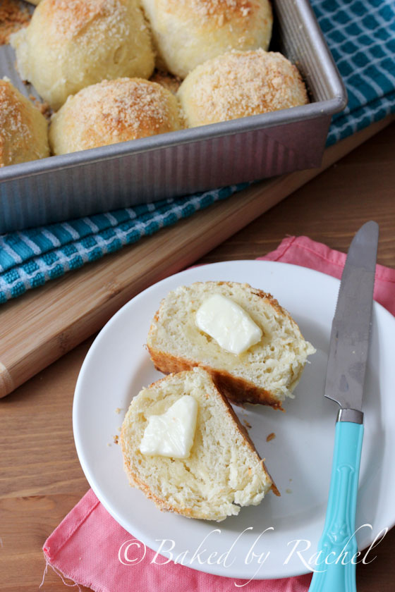 Parmesan and Onion Dinner Rolls Recipe - bakedbyrachel.com
